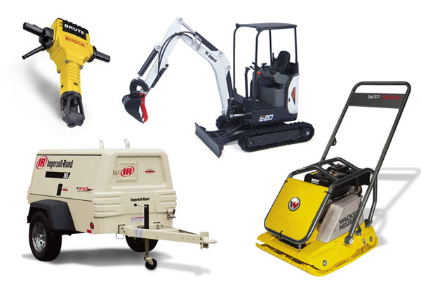 Equipment rentals in  Pittsburg California, Concord CA, Martinez CA, Walnut Creek, Brentwood, and the entire Contra Costa area in California