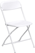 Where to rent CHAIR, WHITE, FOLDING in Concord CA